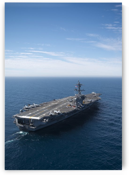 The aircraft carrier USS Carl Vinson in the Pacific Ocean. by StocktrekImages
