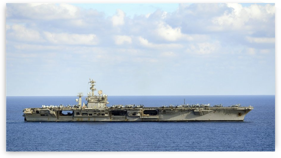 USS Nimitz transits the Mediterranean Sea. by StocktrekImages
