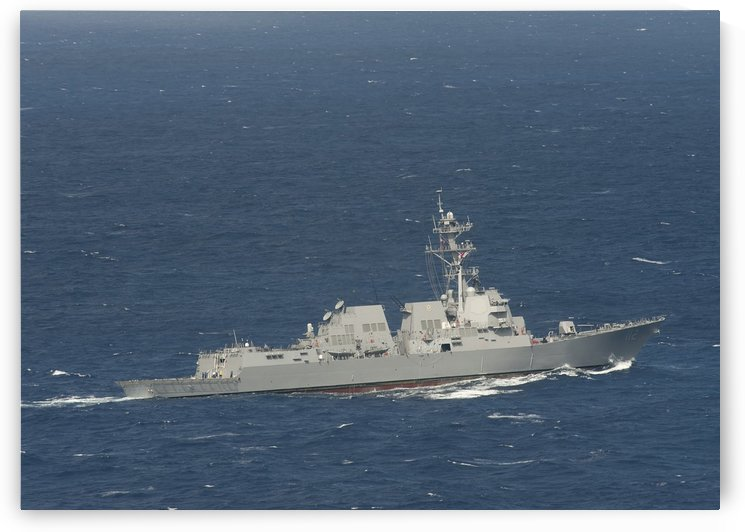 The guided-missile destroyer USS Michael Murphy. by StocktrekImages