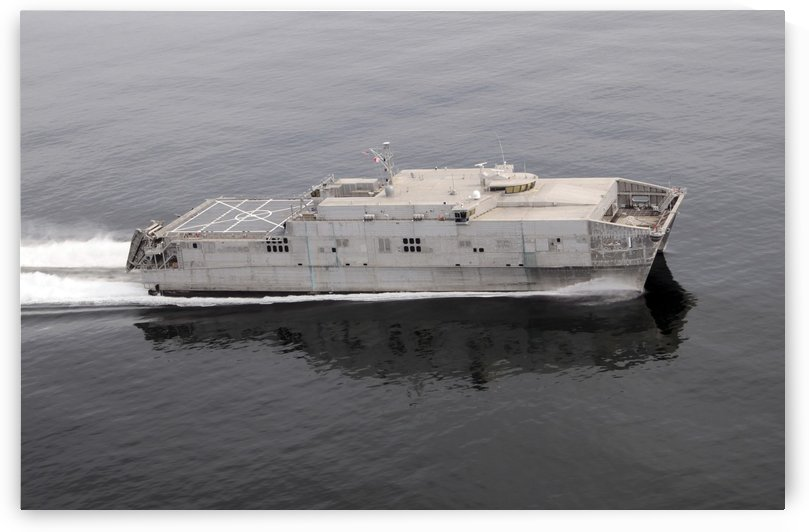 Military Sealift Command joint high-speed vessel USNS Spearhead. by StocktrekImages