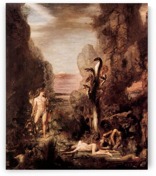 Hercules and the Hydra by  Gustave Moreau by Gustave Moreau