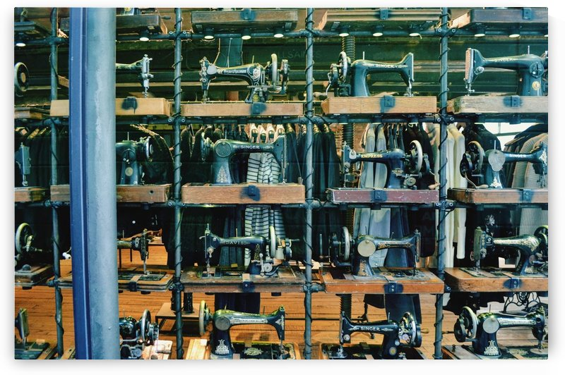 Pattern of sewing machines by Verstapost