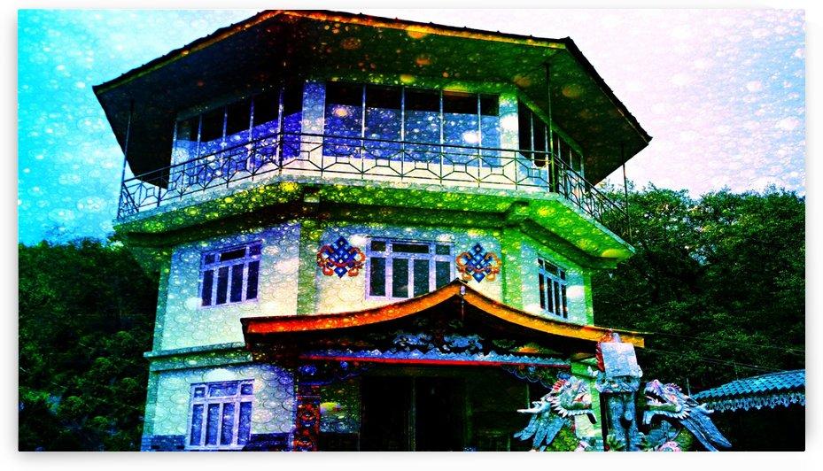 Colorful Monastery by Nilu Mishra