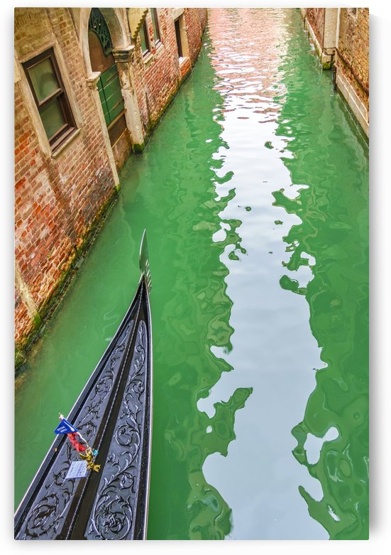 Gondola Crossing Small Canal, Venice, Italy by Daniel Ferreia Leites Ciccarino