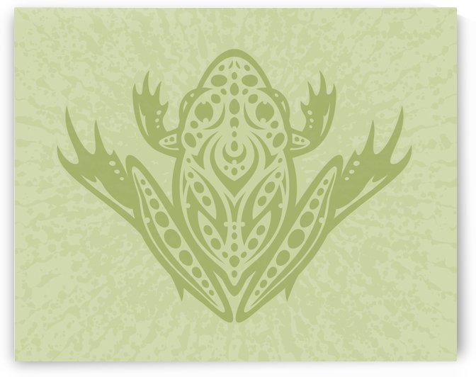 Tribal Leopard Frog - Green by fizzgig