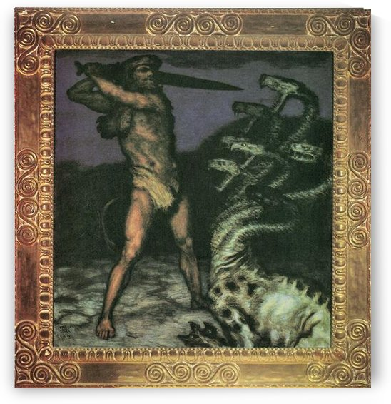 Hercules and the Hydra by Franz von Stuck by Franz von Stuck
