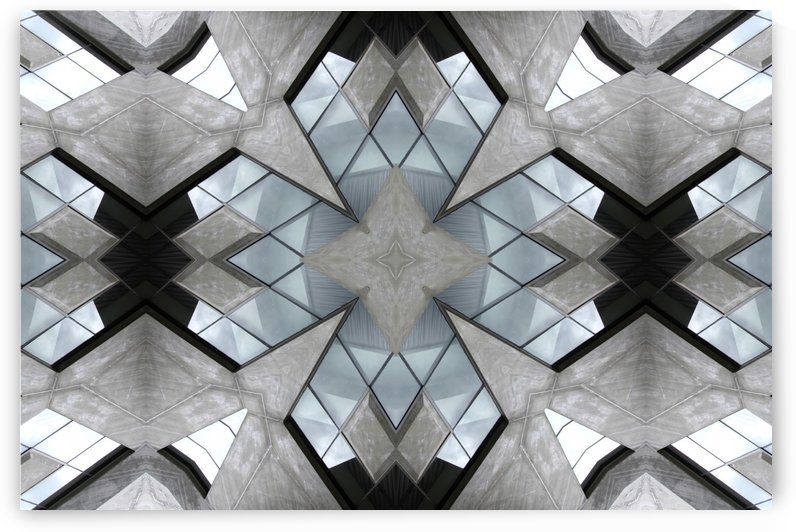 Kaleidoscope images of building and wall and glass by Krit of Studio OMG