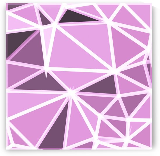 geometric triangle pattern abstract background in pink and white by TimmyLA