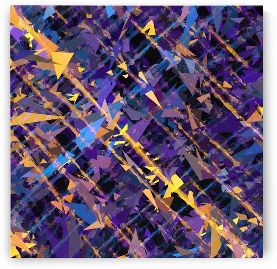 splash geometric triangle pattern abstract background in blue purple yellow by TimmyLA