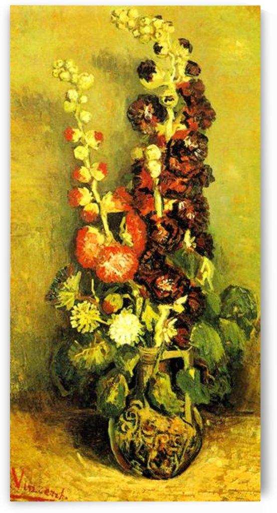 Hollyhocks by Van Gogh by Van Gogh