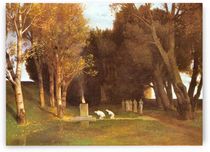 Holy Hain by Arnold Bocklin by Arnold Bocklin