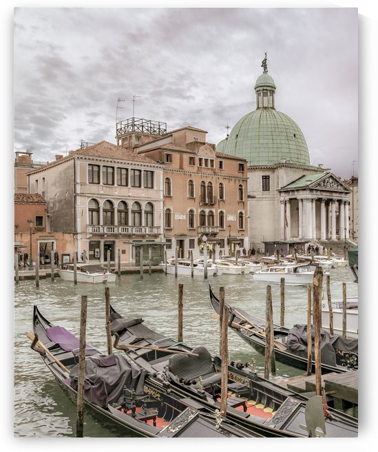 Gondolas Parked at Grand Canal, Venice, Italy by Daniel Ferreia Leites Ciccarino