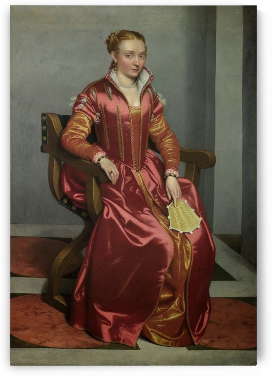 Portrait of a Lady ('La Dama in Rosso') by Giovanni Battista Moroni