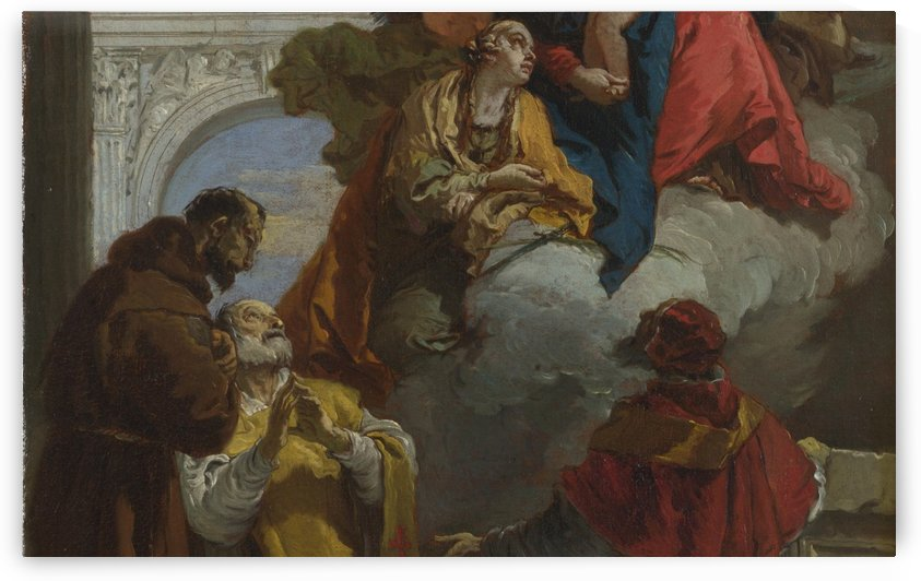 The Virgin and Child appearing to a Group of Saints by Giovanni Battista Tiepolo