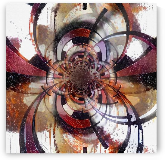 Circles fractal painting by Bruce Rolff