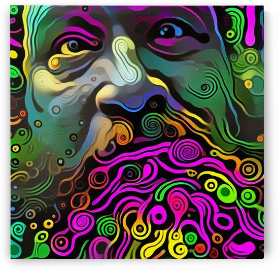 Mans Face. Vivid Art Pattern by Bruce Rolff