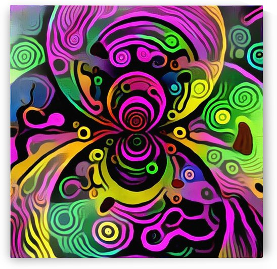 Colorful Fractal by Bruce Rolff