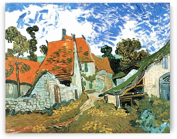 Houses in Auvers by Van Gogh by Van Gogh