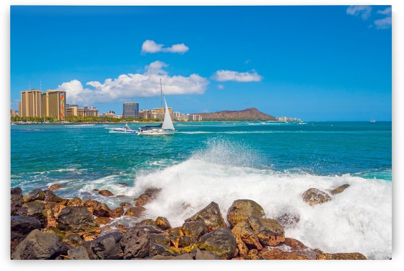 Diamond head view Hawaii by Asia Visions Photography