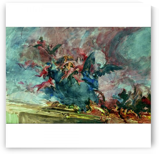 Project of Decoration 'Parte di un Soffitto del Tiepolo by Giovanni Boldini