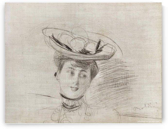 Woman's Head by Giovanni Boldini