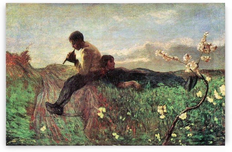 Idyll by Giovanni Segantini by Giovanni Segantini