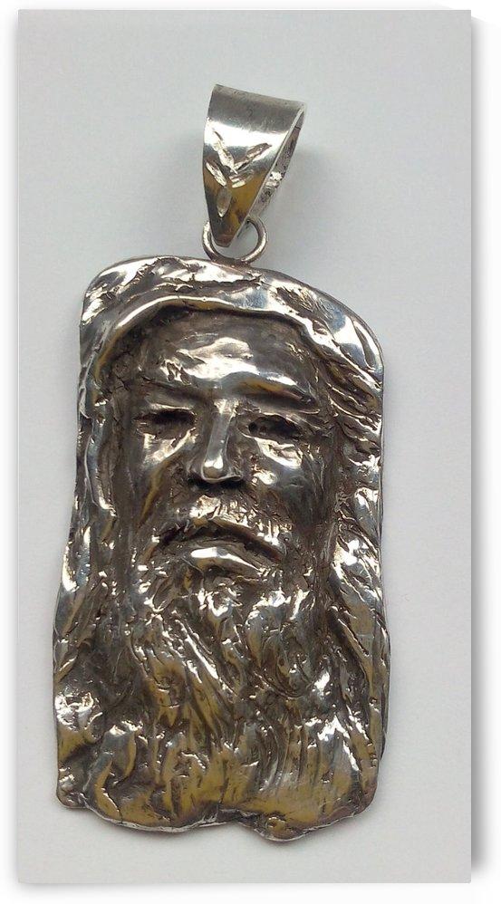 1 silver face.20.9.g.6x2.8.cm. by John Biro