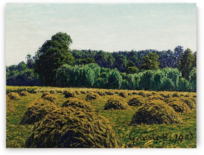 The Haystacks by Gustave Cariot