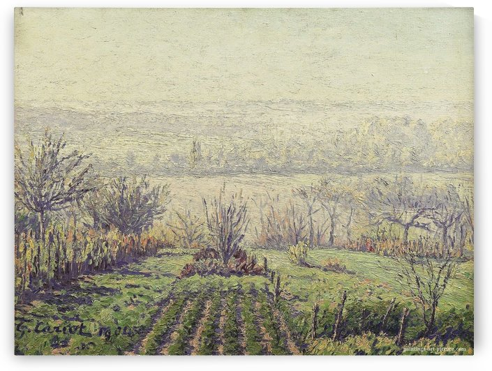 Landscape, Misty Morning by Gustave Cariot