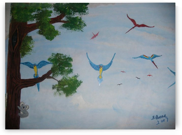 Macaw family by Bells Paintings