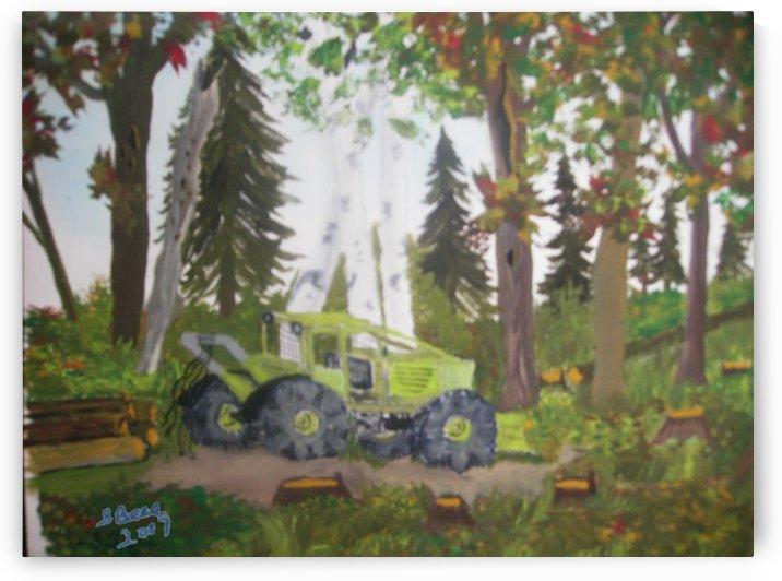 Logging in Maine Woods by Bells Paintings
