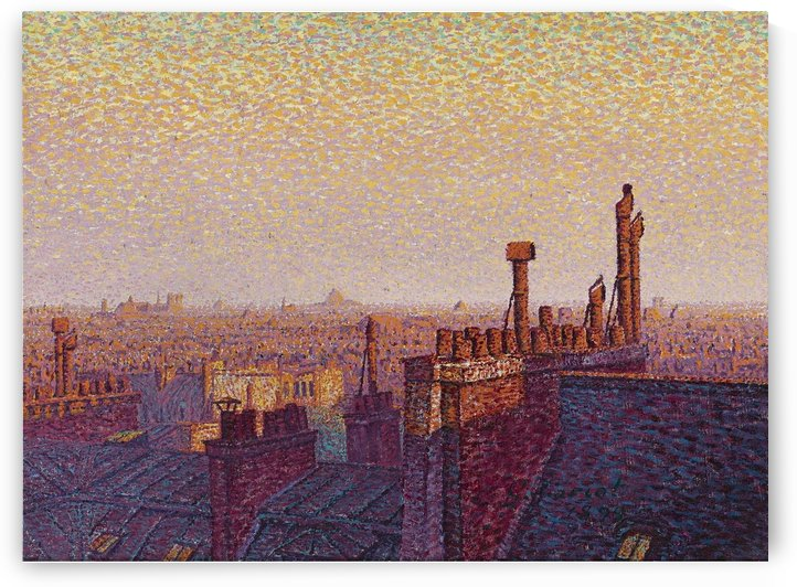 The Roofs of Paris, Sunset by Gustave Cariot