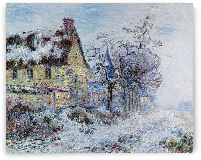 Snow Effect at Porte-Joie by Gustave Loiseau