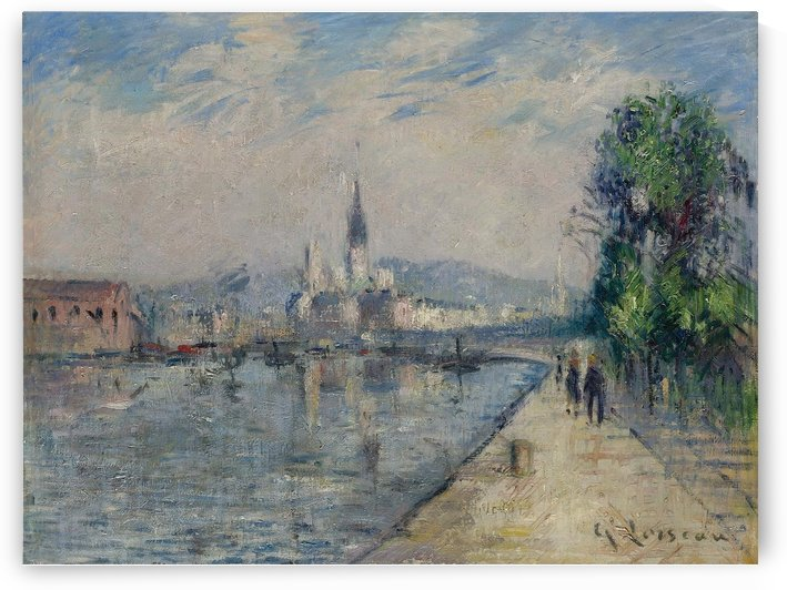 Rouen, Banks of the Seine by Gustave Loiseau