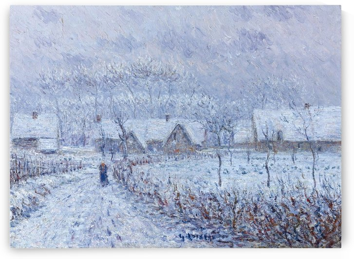 Wind with Snow, 24 March 1899, Saint-Cyr-du-Vaudreuil by Gustave Loiseau