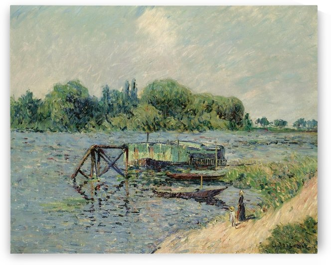 Laun Place on the Seine at Herblay by Gustave Loiseau