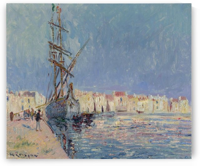 The Martigues, the Port of Ferriere by Gustave Loiseau