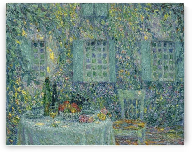 The Table. The Sun on the Leaves, Gerberoy by Henri Le Sidaner