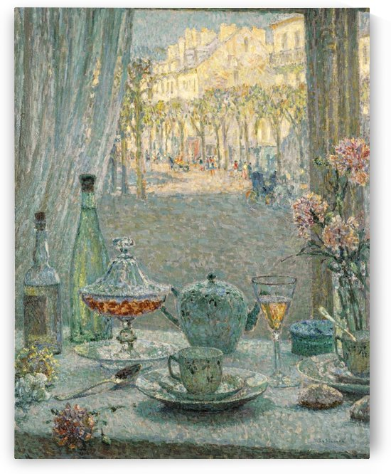 Table near the Window, Reflections by Henri Le Sidaner