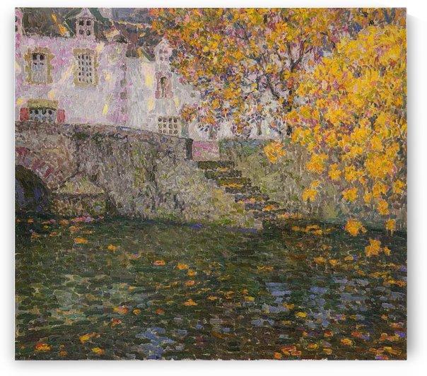 Bridge, Autumn, Gisors by Henri Le Sidaner