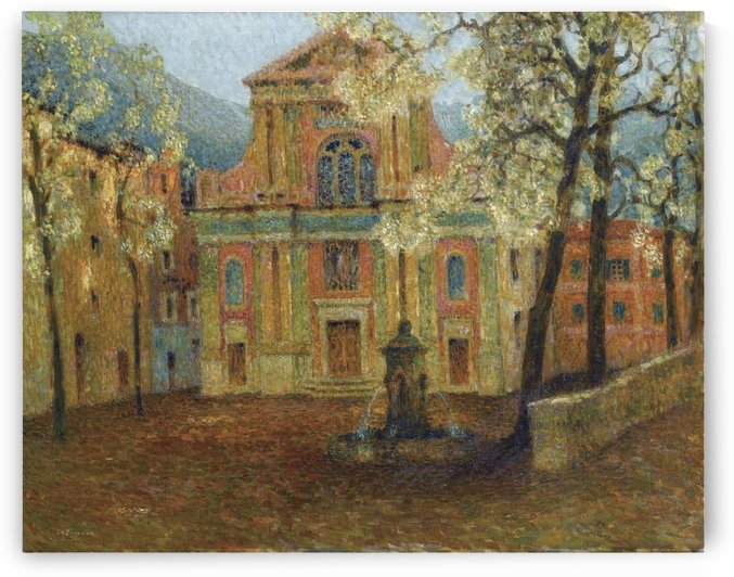 The Church of Dolceacqua by Henri Le Sidaner