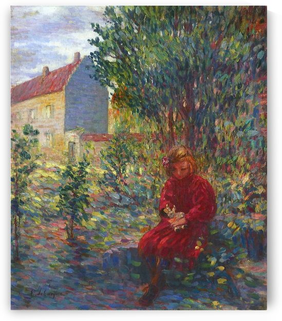 A Child at the Lawn at Pierrefonds by Henri Lebasque