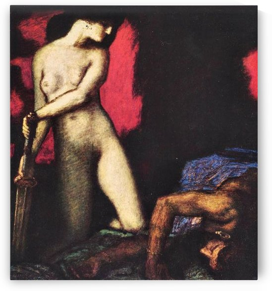 Judith and Holofernes by Franz von Stuck by Franz von Stuck