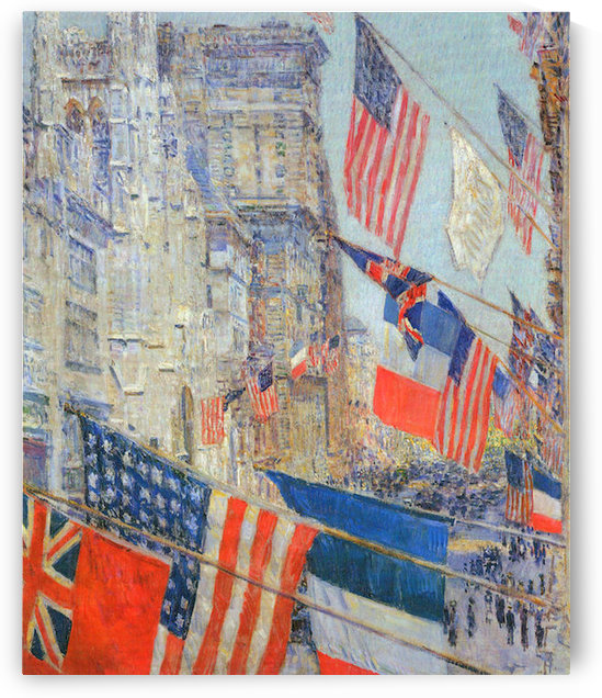 Day of allied victory, 1917 by Hassam by Hassam