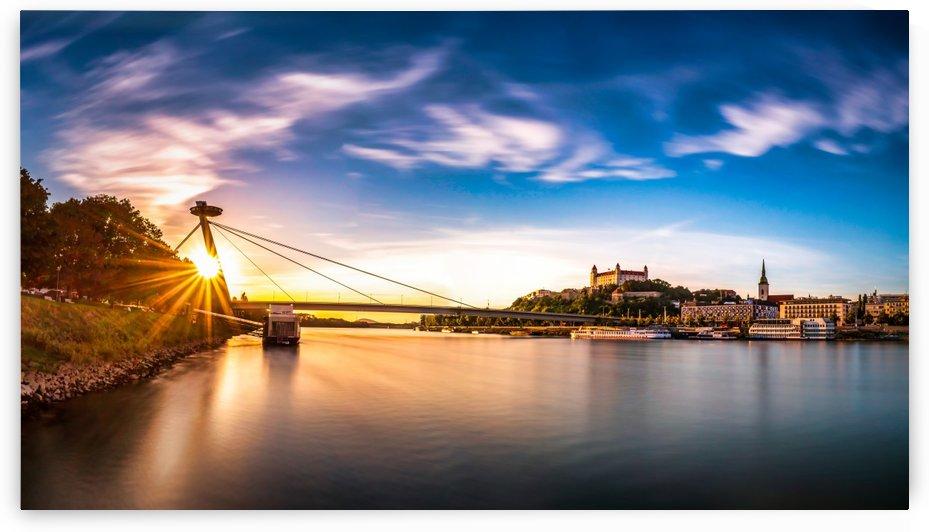 Sunset in Bratislava by zoltanduray