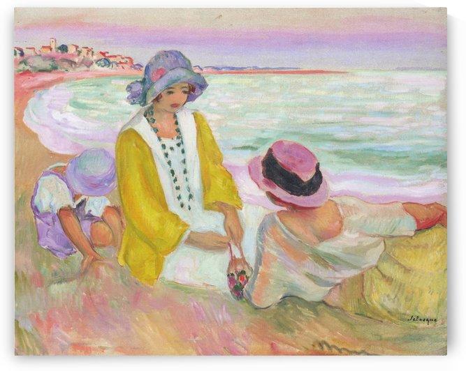 The Beach by Henri Lebasque