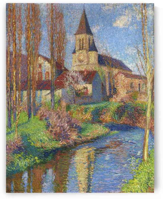 School and Church at Labistede-Du-Vert by Henri Martin