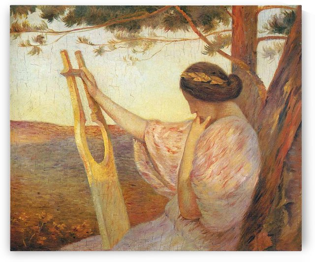 Orpheus Playing the Lyre by Henri Martin