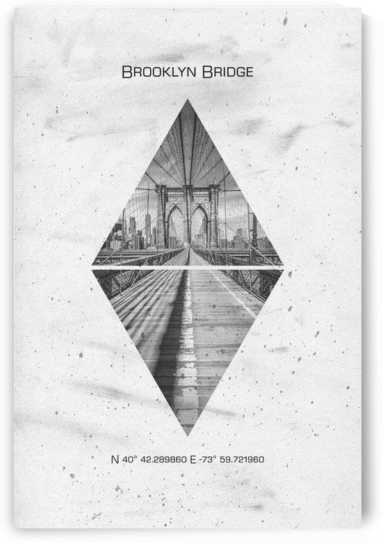 Coordinates NEW YORK CITY Brooklyn Bridge  by Melanie Viola