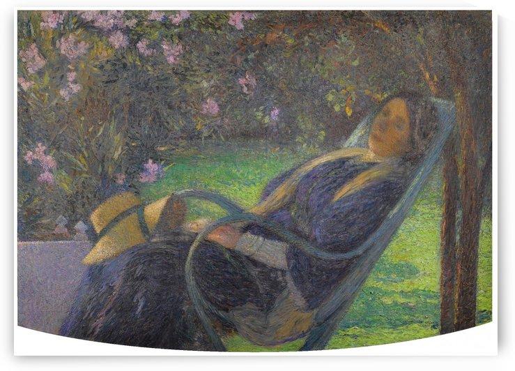 Madame Henri Martin under the Oleander of Marquyarol by Henri Martin